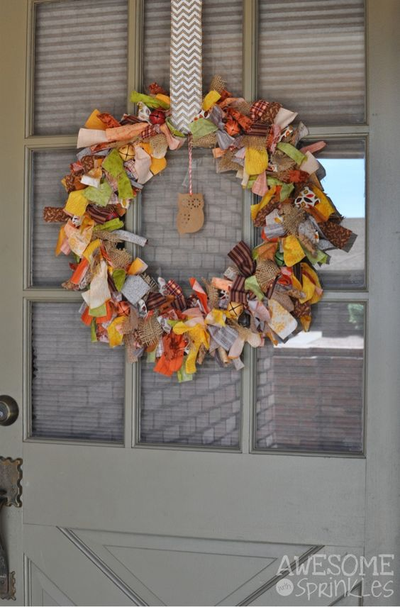 Zoom: Fall Fabric Wreath